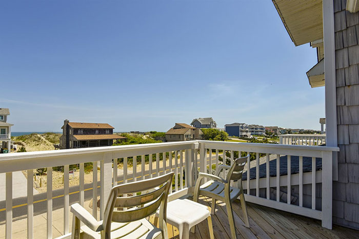 Ocean view from the balcony of this Outer Banks Beach Rental on Whalehead Dr in Corolla, NC.